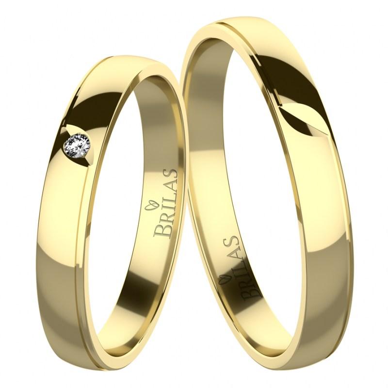 Rumba Gold Snubni Prsteny Ze Zluteho Zlata Prsten Cz