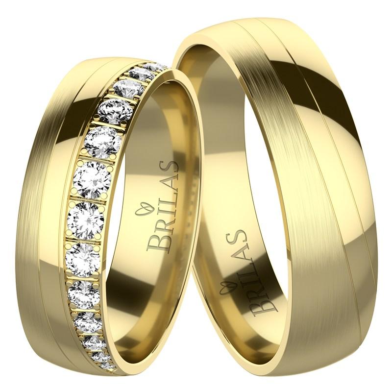 Miran Gold Snubni Prsteny Ze Zluteho Zlata Prsten Cz