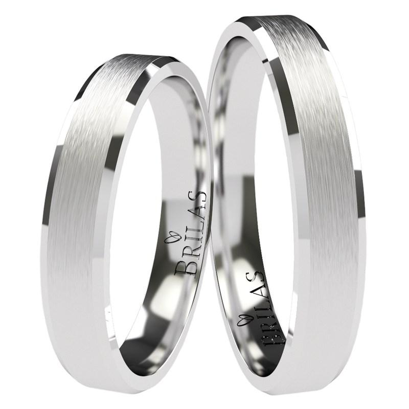 Visa White Snubni Prsteny Vyrobene Z Bileho Zlata Prsten Cz