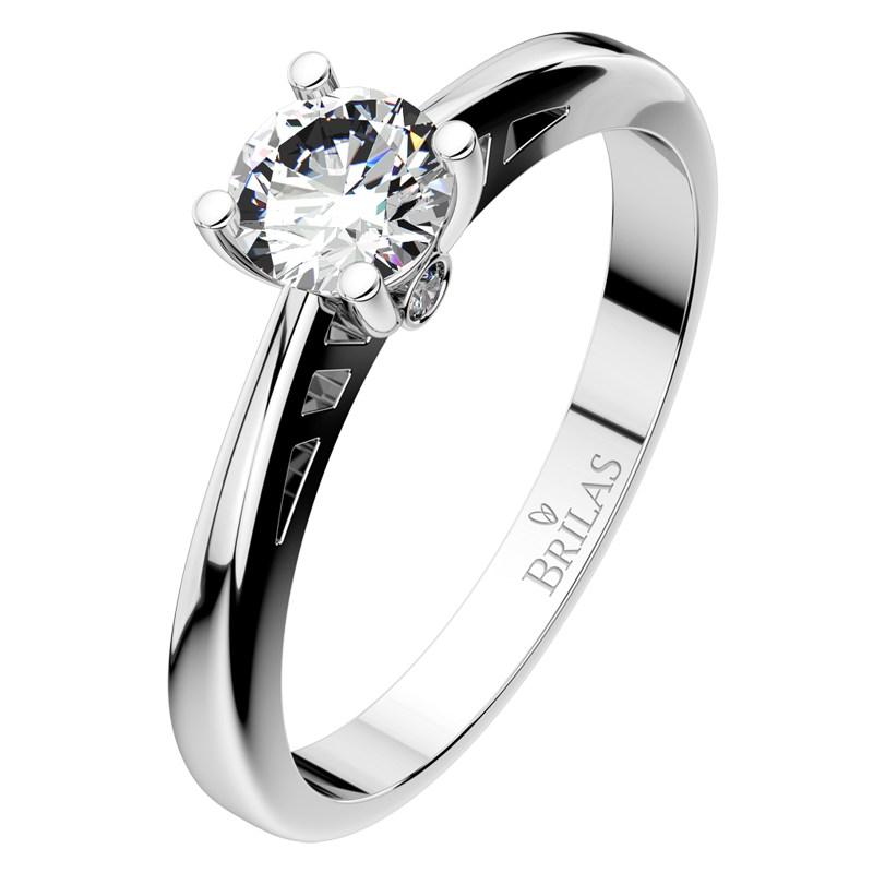 Vilma White Sofistikovany Zasnubni Prsten Z Bileho Zlata Prsten Cz