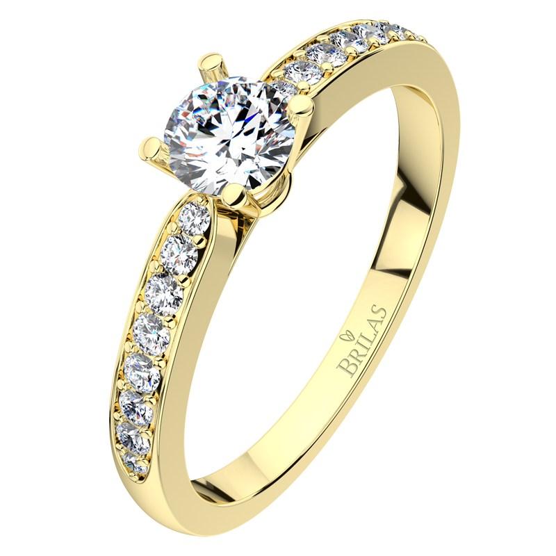 Lenka Gold Briliant Oblibeny Zasnubni Prsten Ze Zluteho Zlata