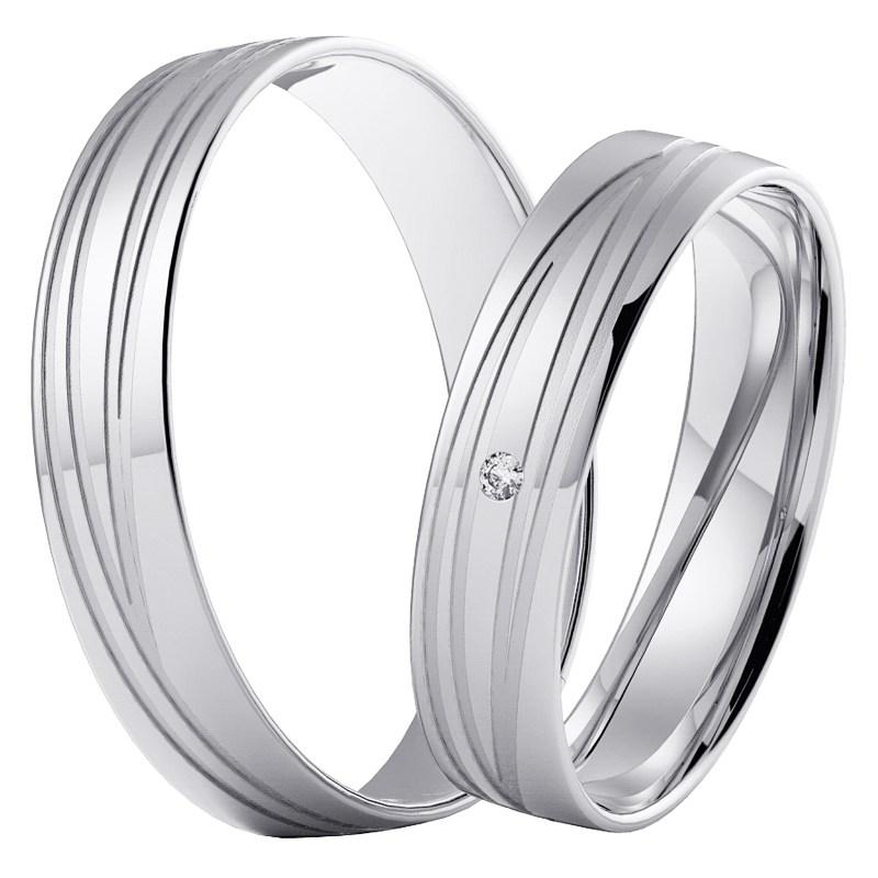 Levis White Snubni Prsteny Z Bileho Zlata Prsten Cz