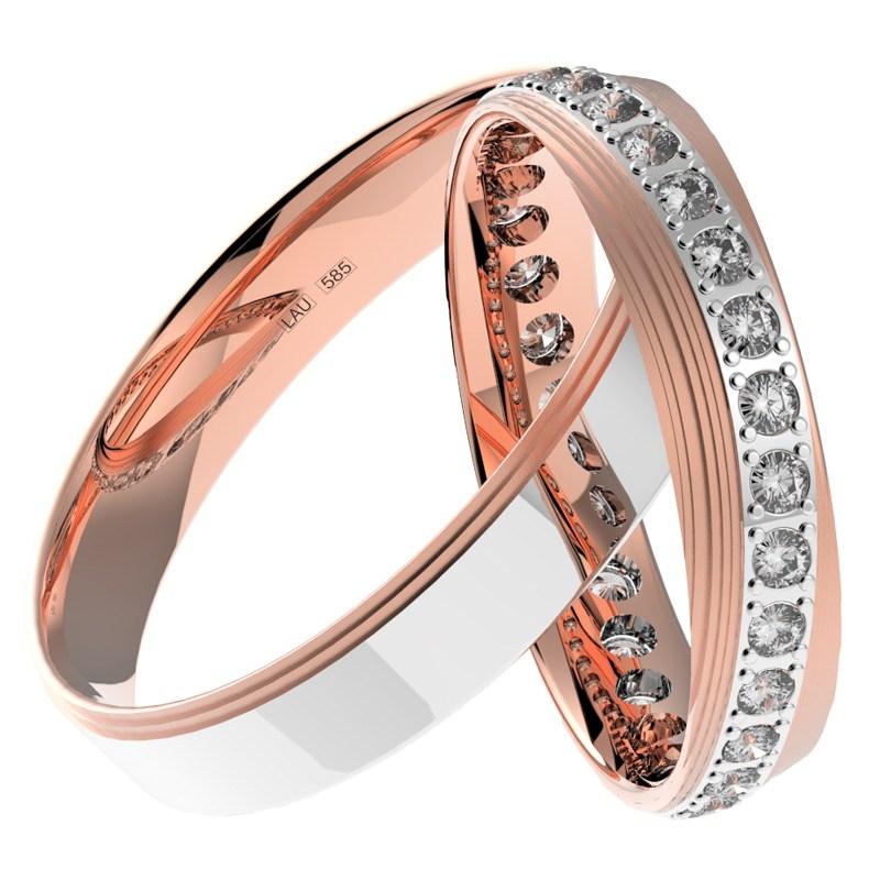 Edine Colour Rw Moderni Snubni Prsteny V Barevne Kombinaci Prsten Cz