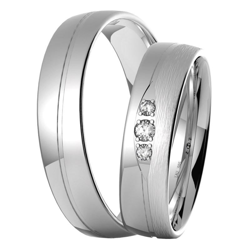 Izzy White Hezke Snubni Prsteny Z Bileho Zlata Prsten Cz