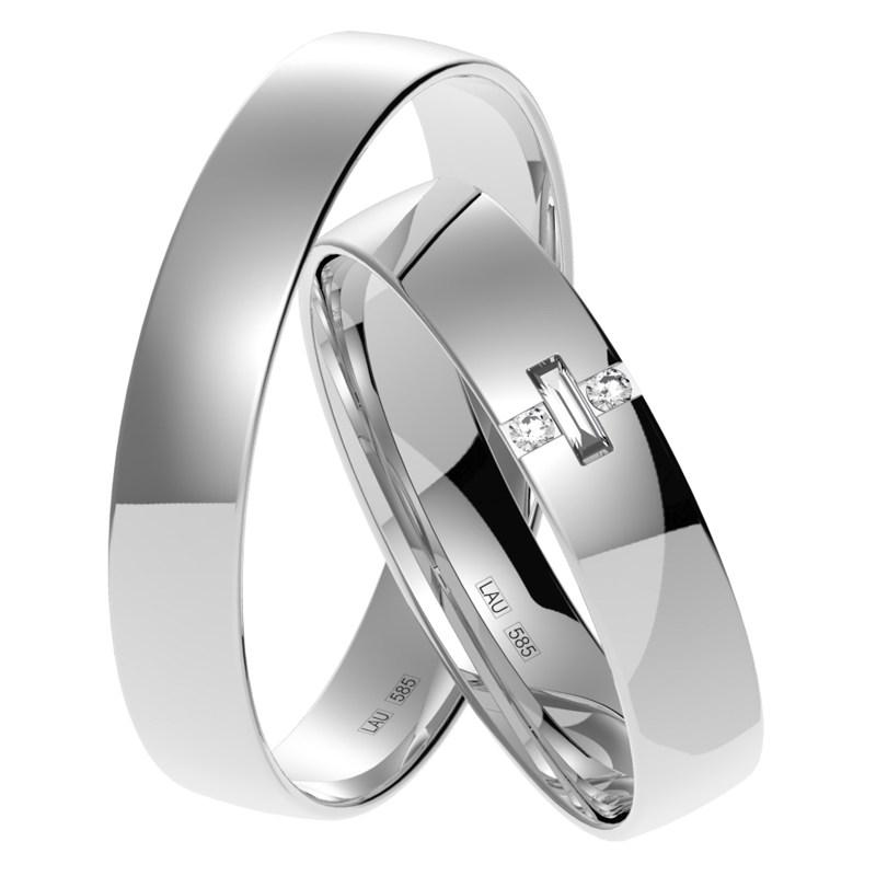 Juki White Zajimave Snubni Prsteny Z Bileho Zlata Prsten Cz